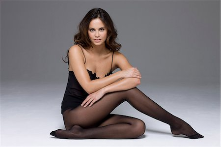 Young woman in lingerie Stock Photo - Rights-Managed, Code: 877-06834783