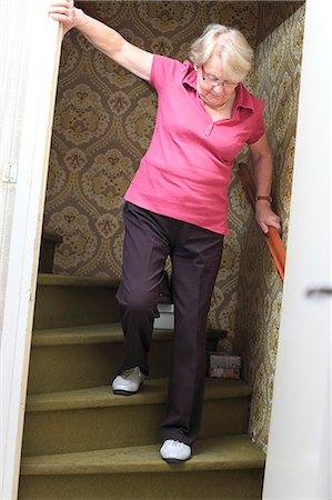 dangerous accident - France, senior people at home. Stock Photo - Rights-Managed, Code: 877-06835852