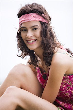Young woman smiling, oudoors Stock Photo - Rights-Managed, Code: 877-06832299