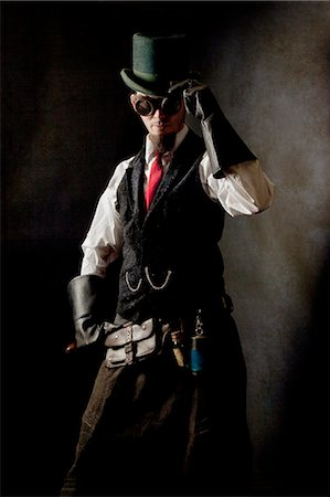 Duelist steampunk Stock Photo - Rights-Managed, Code: 877-07460455