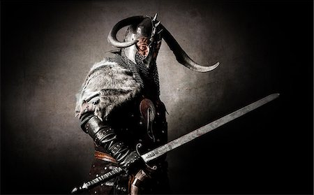 Viking in studio Stock Photo - Rights-Managed, Code: 877-07460485
