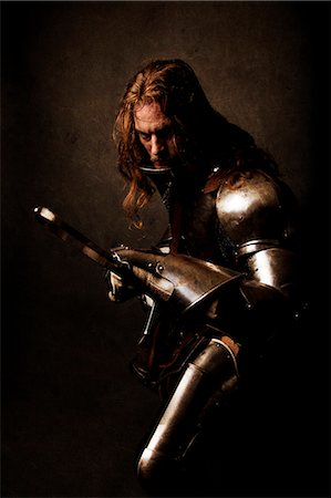 "Knight ""warning"" Stock Photo - Rights-Managed, Code: 877-07460495"