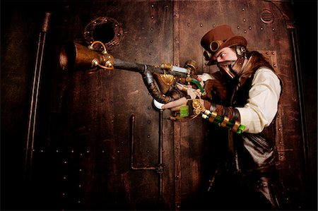 Bounty Hunter steampunk Stock Photo - Rights-Managed, Code: 877-07460511