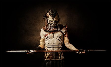 Tribal warrior surrenders Stock Photo - Rights-Managed, Code: 877-07460599