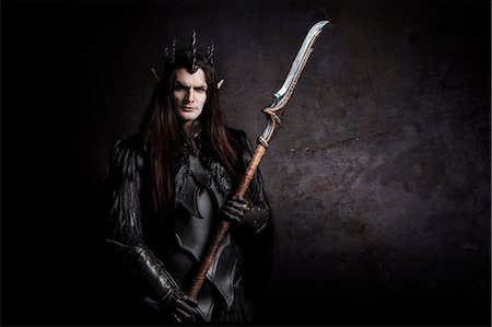 Dark Elf guard Stock Photo - Rights-Managed, Code: 877-07460629