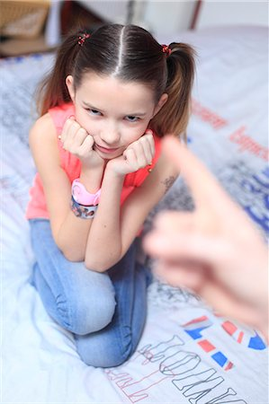 preteens fingering - France, mother angry with daughter. Stock Photo - Rights-Managed, Code: 877-08079018