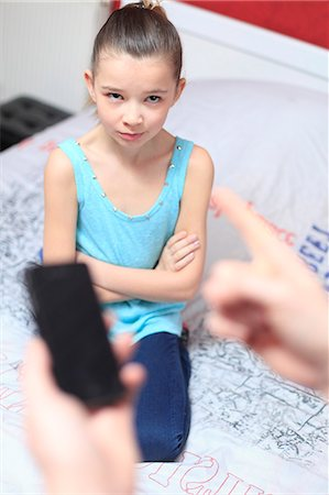 preteens fingering - France, mother angry with daughter. Stock Photo - Rights-Managed, Code: 877-08079020