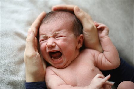 A 10 days baby crying Stock Photo - Rights-Managed, Code: 877-08079107