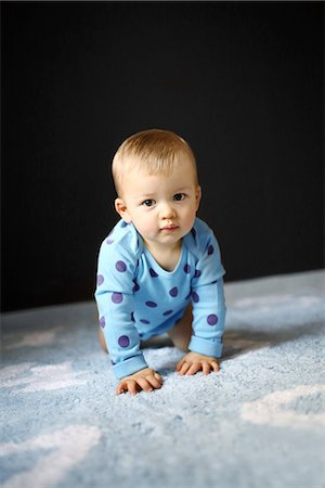Portrait of a 15 months baby boy Stock Photo - Rights-Managed, Code: 877-08079109