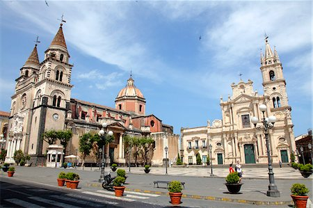 Italy, Sicily, province of Catania, Acireale, del Duomo square, the cathedral and san  Pietro e Paolo church Stock Photo - Rights-Managed, Code: 877-08128095