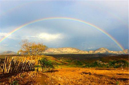 rainbow - Rainbow in Chapada Diamantina national park (Diamond Plateau) region of Bahia state in north-east Brazil,South America Stock Photo - Rights-Managed, Code: 877-08128362