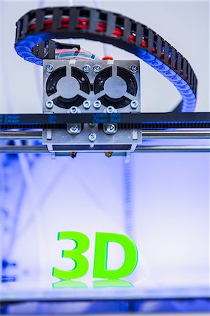 Cubeek3D, 3d printer store located in Paris Stock Photo - Rights-Managed, Code: 877-08128799