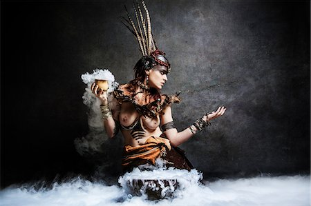 Tribal Woman: Invocation Stock Photo - Rights-Managed, Code: 877-08129464