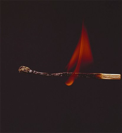 Close-Up of Burning Match Stock Photo - Rights-Managed, Code: 873-06440164
