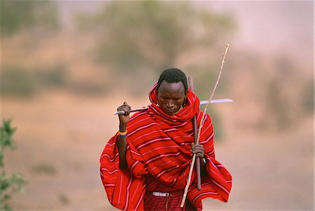 Masai Tribesman Tanzania Stock Photo - Rights-Managed, Code: 873-06440205