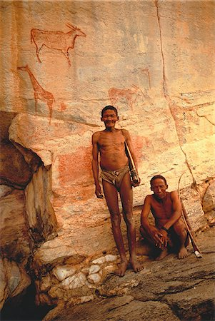 Portrait of Bushmen Kalahari Desert, Botswana Stock Photo - Rights-Managed, Code: 873-06440207
