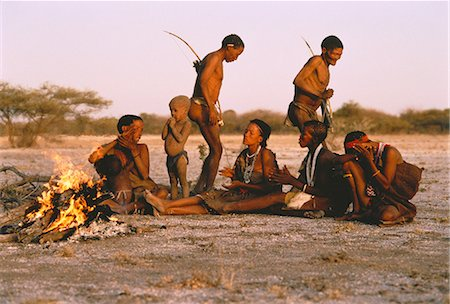 Bushmen Singing and Dancing Kalahari Desert, Botswana Stock Photo - Rights-Managed, Code: 873-06440208