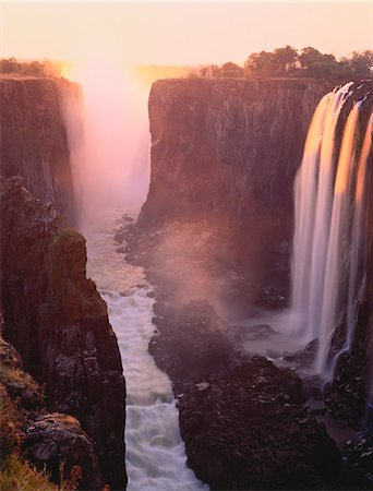 Victoria Falls Zambezi River Zimbabwe Stock Photo - Rights-Managed, Code: 873-06440252