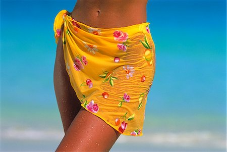 Close-Up of Woman Wearing Sarong On Beach Stock Photo - Rights-Managed, Code: 873-06440315