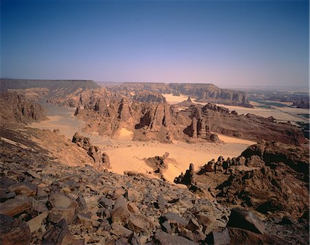 rugged landscape - Rock Formations The Oasis of Al'Ula, Saudi Arabia Stock Photo - Rights-Managed, Code: 873-06440325