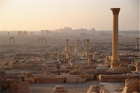 pillar - Pillars at Dusk Palmyra Ruins, Syria Stock Photo - Rights-Managed, Code: 873-06440329
