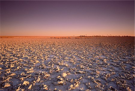 Sunset over Makgadikgadi Pans Botswana, South Africa Stock Photo - Rights-Managed, Code: 873-06440343