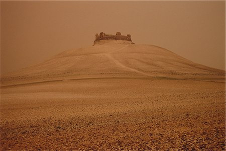 Crusaders Castle in Dust Storm Syria Stock Photo - Rights-Managed, Code: 873-06440363