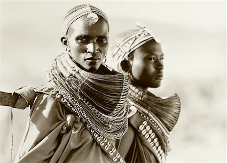 Portrait of Two Masai Women Tanzania Stock Photo - Rights-Managed, Code: 873-06440384
