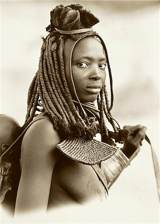 Portrait of Himba Woman Namibia Stock Photo - Rights-Managed, Code: 873-06440383