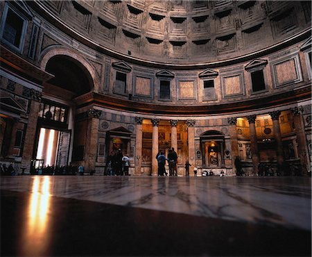 Interior of The Pantheon Rome, Italy Stock Photo - Rights-Managed, Code: 873-06440416