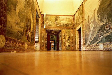 Paintings and Frescoes in Hallway Villa D'este, Tivoli, Italy Stock Photo - Rights-Managed, Code: 873-06440411