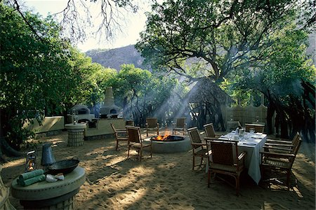 serengeti national park - Outdoor Dining Area at Lodge Serengeti, Tanzania, Africa Stock Photo - Rights-Managed, Code: 873-06440433