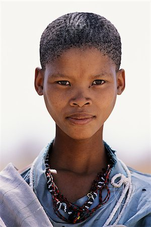 female only - Portrait of Bushman Child Outdoors Namibia, Africa Stock Photo - Rights-Managed, Code: 873-06440565