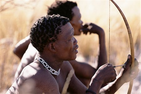 Bushman Hunters with Bow and Arrow Namibia, Africa Stock Photo - Rights-Managed, Code: 873-06440567