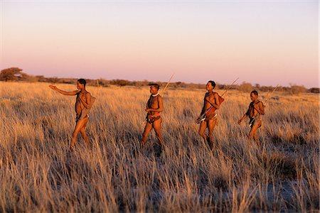 Bushmen Hunting at Dusk Namibia, Africa Stock Photo - Rights-Managed, Code: 873-06440571