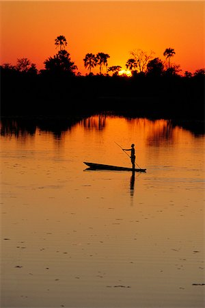 Person on a Boat Botswana, Africa Stock Photo - Rights-Managed, Code: 873-06440683