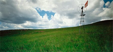 Windmill in Grassland Gauteng, South Africa Stock Photo - Rights-Managed, Code: 873-06440771