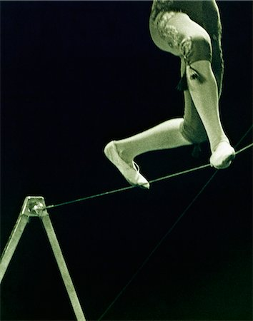 Person Balancing on Tightrope Stock Photo - Rights-Managed, Code: 873-06440773