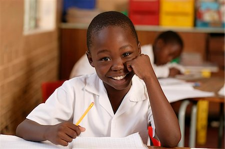Boy in a Classroom Gauteng, South Africa Stock Photo - Rights-Managed, Code: 873-06440796