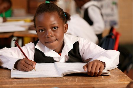 Girl in a Classroom Gauteng, South Africa Stock Photo - Rights-Managed, Code: 873-06440797