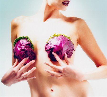 Woman Holding Cabbage Stock Photo - Rights-Managed, Code: 873-06440800