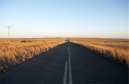 road landscape - Open Country Road, Karoo, Eastern Cape, South Africa Stock Photo - Rights-Managed, Code: 873-06441059