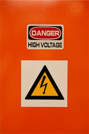 Closeup shot of danger sign Stock Photo - Rights-Managed, Code: 873-06675235