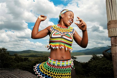 Zulu Dancer, Shakaland Stock Photo - Rights-Managed, Code: 873-07156961