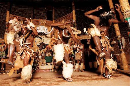 Zulu Dancers, Shakaland Stock Photo - Rights-Managed, Code: 873-07156963
