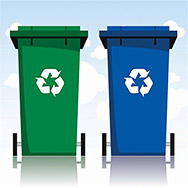vector set of recycle bins