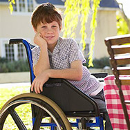 Portrait of Boy in Wheelchair