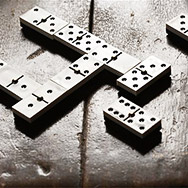 Dominoes on Tabletop