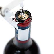 Corkscrew and Wine Bottle