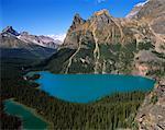 Mary Lake et Lake o ' Hara, Parc National Yoho en Colombie-Britannique, Canada